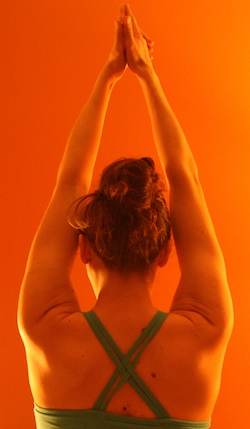 Laura from the back in sat kriya