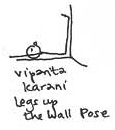Image result for legs up the wall pose stick figure
