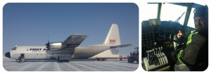 Herc on the ice runway at Goose Lake