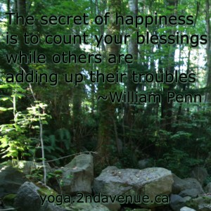 The secret of happiness is counting your blessings while others are adding up their troubles