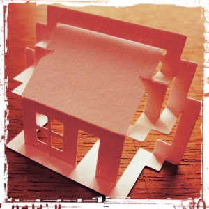 Paper pop-up house