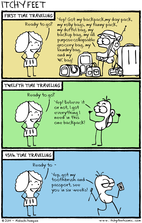 Cargo Reduction comic from Itchy Feet