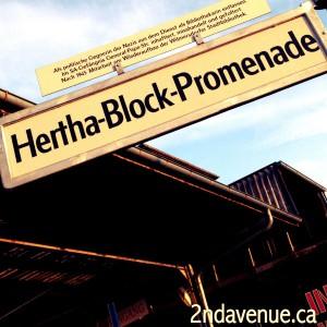 Hertha Block Promenade street sign