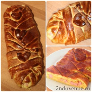Homemade ham and cheese loaf