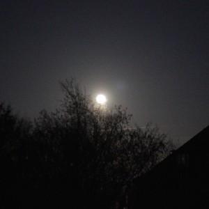 Full moon in Neuss