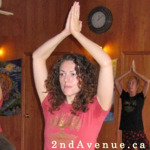 Laura during Prana yoga teacher training