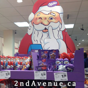 Christmas chocolate display that went up in September