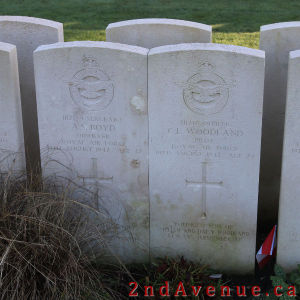 Two Canadian grave markers