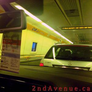 Aboard the Eurotunnel shuttle