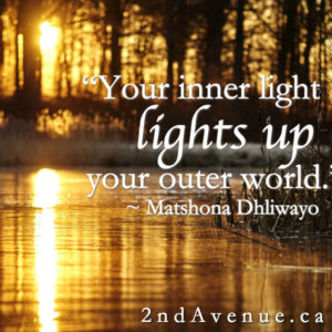 Your inner light lights up your outer world. - Matshona Dhliwayo