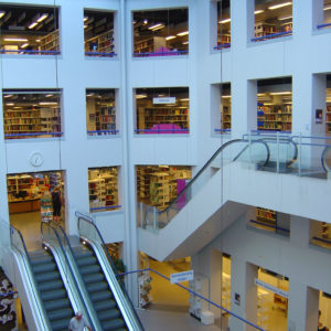 Escalators in Copenhagen's central library