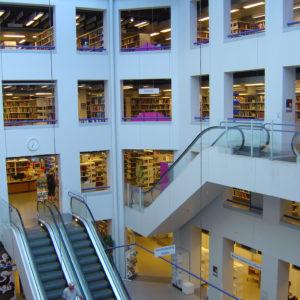 Escalators in Copenhagen's central library